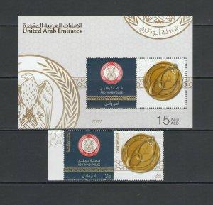 U.A.E: Sc. 1172-73 /**ABU DHABI POLICE** / PAIR & SS - MNH.
