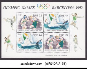 IRELAND - 1992 OLYMPIC GAMES BARCELONA - MIN. SHEET MNH
