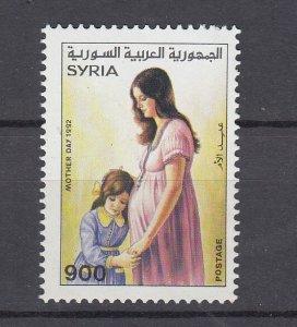 J28860, 1992 syria set of 1 mnh #1269 mother & child