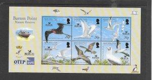BIRDS - BRITISH INDIAN OCEAN TERRITORY #325  BIRD LIFE  MNH