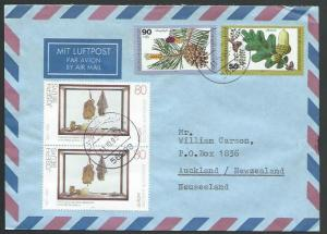 GERMANY 1993 airmail cover to New Zealand - nice franking..................11875
