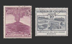 COLOMBIA 1954 SCOTT # C239 - 40. USED