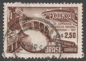 BRAZIL 844 VFU STEEL O397-1