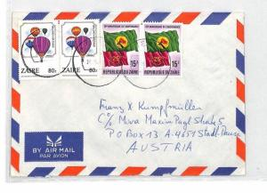 CA343 Zaire BALLOONS FLAGS Airmail Cover MISSIONARY VEHICLES PTS
