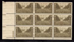 934 Mint,OG,NH... Plate Block of 9... SCV $2.25
