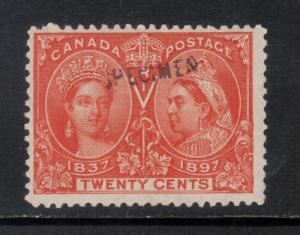 Canada #59s Mint Fine With Specimen Original Gum Hinged