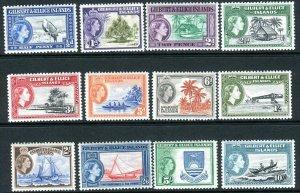 GILBERT & ELLICE ISLANDS-1956-62 MOUNTED MINT SET to 10/- Sg 64-75 V42763