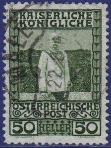 Austria - 1908 - Scott #121 - used - MALE pmk Italy