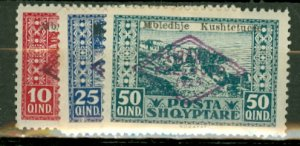 AC: Albania 158-162 mint CV $46.50; scan shows only a few