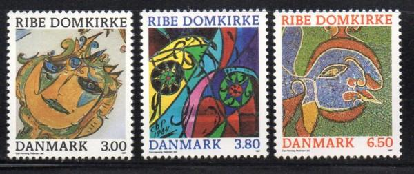 Denmark Sc 834-6 1987 Ribe Cathedral Art stamp set mint NH