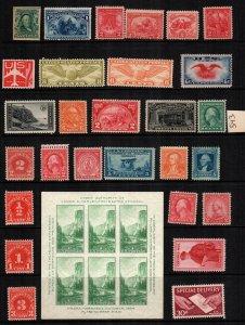 United States 29   MNH diff $ 138.00