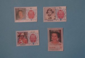 St. Vincent - 323 - 36, MNH Set. Elizabeth II 65th Birthday. SCV - $6.50
