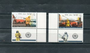 Israel Scott #1250-51 1995 Fire and Rescue Services Tab Set MNH!!