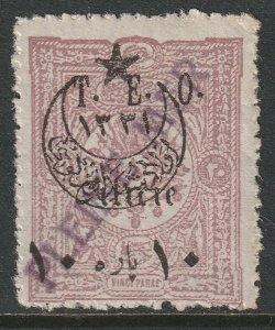 Cilicia 1919 Sc 92 used Pleine Mer ship cancel