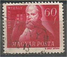 HUNGARY, 1947, used 60f, Mihaly Tancsics, Scott 822