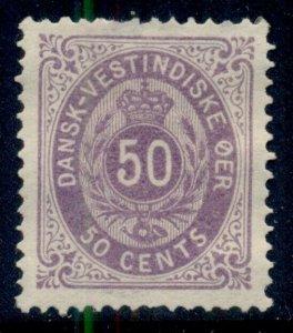 DANISH WEST INDIES #13, 50¢ bicolor, unused no gum, perf thin, rich color, VF