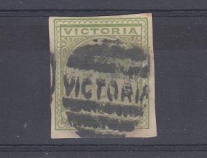 Australia Victoria QV 1886 1d Green Imperf Scarce J2272