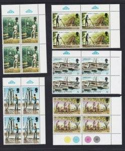 PN156) Pitcairn Islands 1977 Definitives MUH blocks of 4