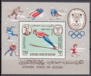 1967 Kathiri States of Seiyun 140/B7 1968 Olympic Games in Grenoble 12,00 €