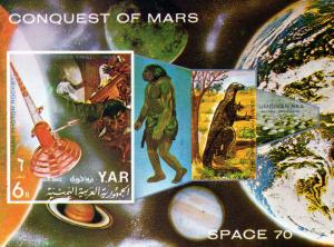 Yemen 1971 Dinosaurs/Conquest of Mars SS Imp.MNH Mi.# Bl.166