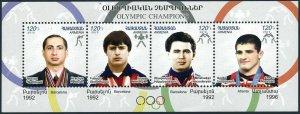 Armenia 917 ad sheet,MNH. Armenian Olympic Gold medalists,2012.