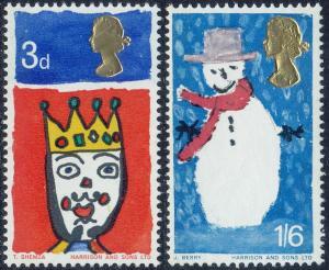 GB - 1966 - Scott #478-79p - MNH - Christmas
