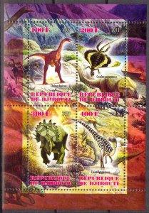 Djibouti 2013 Dinosaurs (1) MNH Cinderella !
