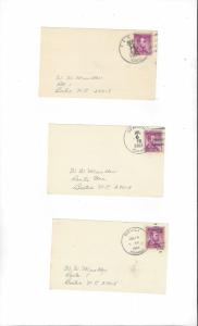 US Postmarks, Tensed, ID, Spalding, ID, Bovill, ID  Vintage