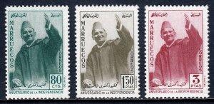 Morocco (Northern Zone) - Scott #9-11 - MNH - #C10 is MLH - SCV $8.80