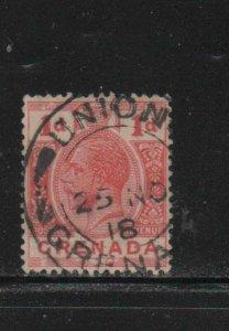 GRENADA #80  1913  1p  KING GEORGE V       F-VF  USED  g