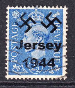 GREAT BRITAIN 262 JERSEY 1944 OVERPRINT USED F/VF SOUND 7