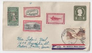 Canal Zone Cover 1951 Airmail Postal Stationery Panama