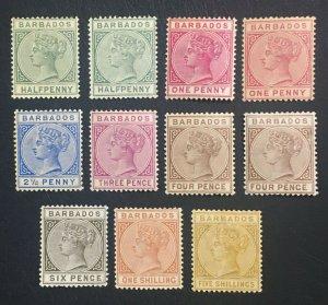 MOMEN: BARBADOS SG # 1882-6 CROWN CA MINT OG H £700 LOT #60655