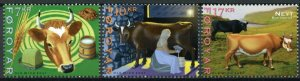 Faroes Faroe Islands Farm Animals Stamps 2021 MNH Cattle Cows Cow 3v Set