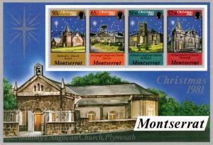 Montserrat 1981 Sc# 479a Christmas 1981 S/S Specimen MNH