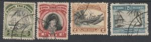 COOK ISLANDS 1944 PICTORIAL 1/2D TO 21/2D WMK MULTI STAR NZ USED