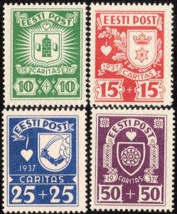 Estonia Scott B32-B35 Mint never hinged.