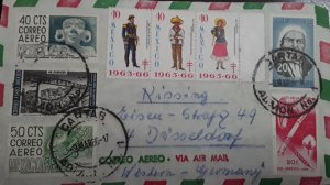 V) 1966 MEXICO, TB SEALS, SOLDIER, CU MODERN ARCHITECTURE, AIRMAIL, POSTAL STATI