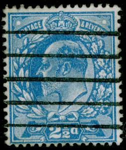 SG284 SPEC M18(3), 2½d dull blue, USED. Cat £15.