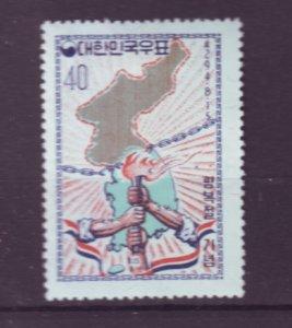 J21957 Jlstamps 1961 south korea set of 1 mh #328 map