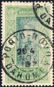 DAHOMEY - 1919 - CAD DOUBLE CERCLE PORTO-NOVO / DAHOMEY SUR N°46