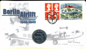 Great Britain Berlin Airlift Cover with Coin