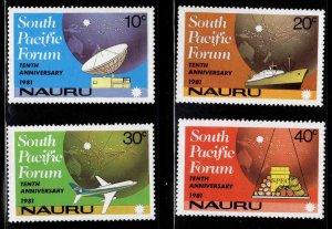 Nauru MNH 240-3 10th Anniversary South Pacific Forum Communications 1981