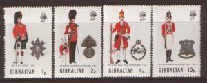 Gibraltar Military uniforms SG 290/293 NHMint