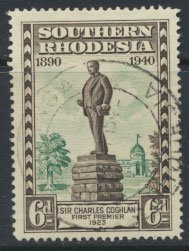 Southern Rhodesia  SG 59 SC# 62  Used  Golden Jubilee BSAC see scans