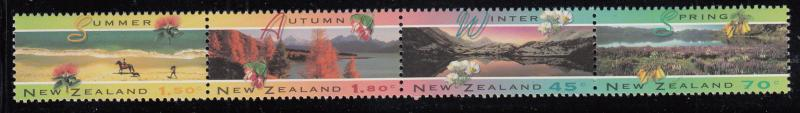 New Zealand 1994 MNH #1208a Strip of 4 The Four Seasons in NZ