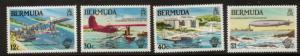 BERMUDA SG465/8 1983 MANNED FLIGHT MNH