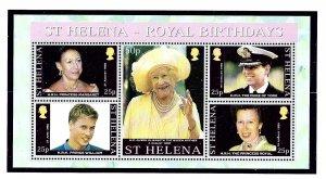 St Helena 759 MNH 2000 Royal Birthdays S/S