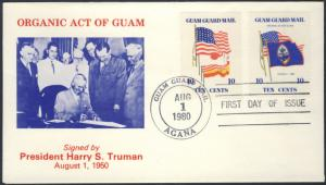Guam Guard Mail FDC Organic Act Of Guam Of 1950
