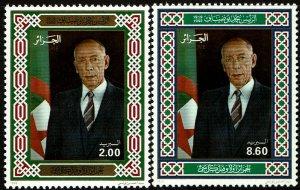 Algeria #970-71  MNH - President Boudiaf (1992)